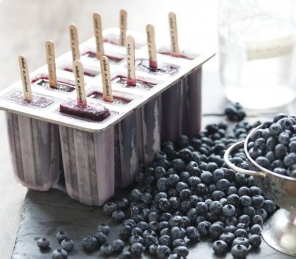 Blueberry Moonshine Popsicles